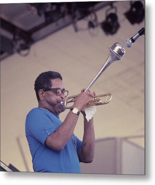 Dizzy Gillespie Performs At Newport Metal Print by David Redfern