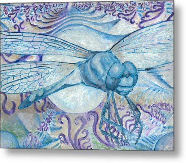 Dragonfly Moon Metal Print