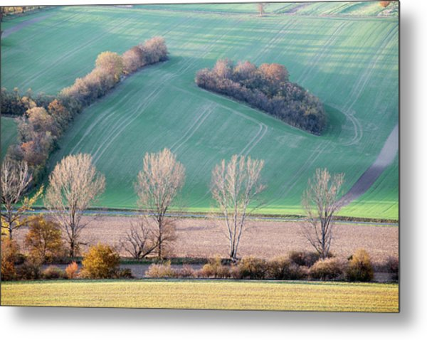 Metal Print featuring the photograph Autumn In Moravia 2 by Dubi Roman