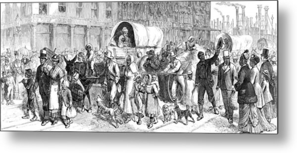 Exoduster Movement, 1879 Metal Print by Science Source