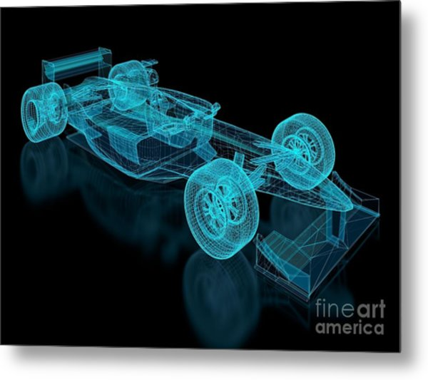 Formula One Mesh. Part Of A Series Metal Print