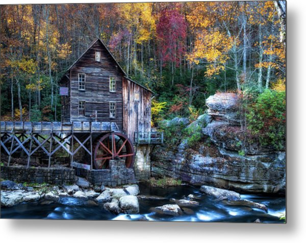 Metal Print featuring the photograph Glade Creek Grist Mill  by Pete Federico