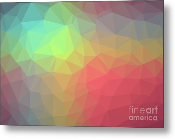 Gradient Background With Mosaic Shape Of Triangular And Square C Metal Print