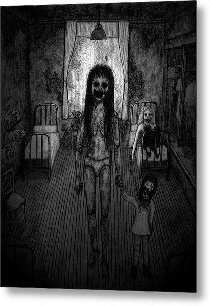 Jessica And Her Broken Doll - Artwork Metal Print