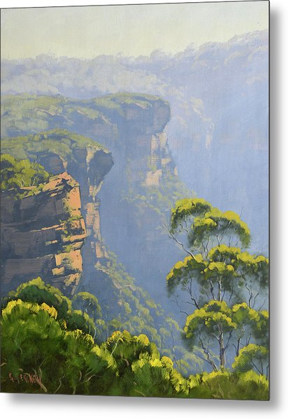 Katoomba Cliffs Metal Print