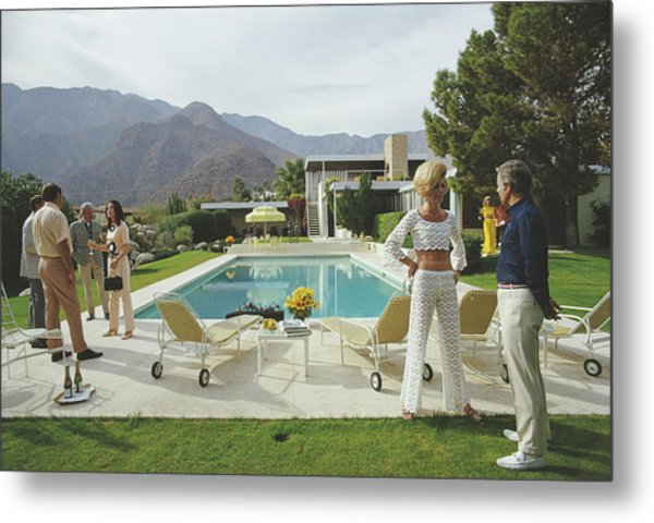 Kaufmann Desert House Metal Print by Slim Aarons