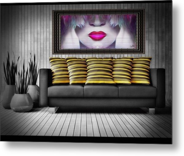 Lady Fashion Beauty Metal Print
