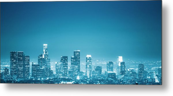 Los Angeles Skyline Metal Print by Franckreporter