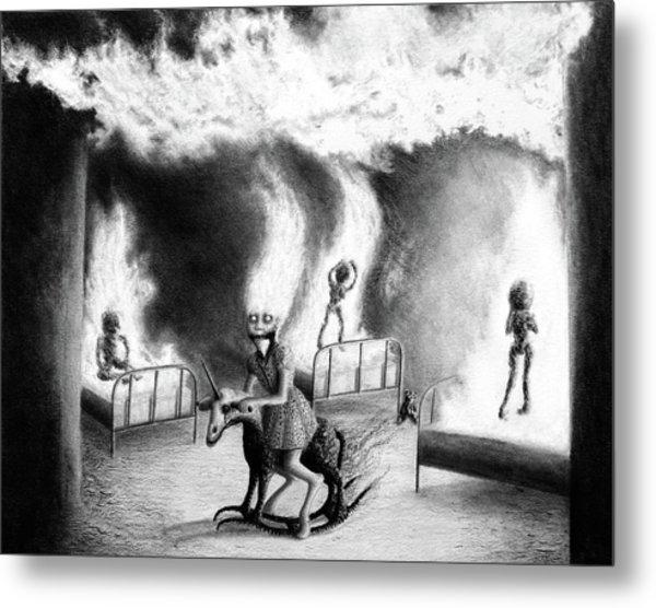 Philippa The Crackling Rider - Artwork Metal Print