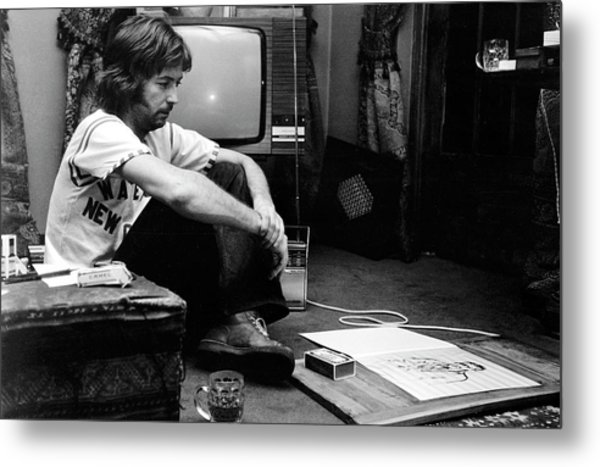 Photo Of Eric Clapton Metal Print