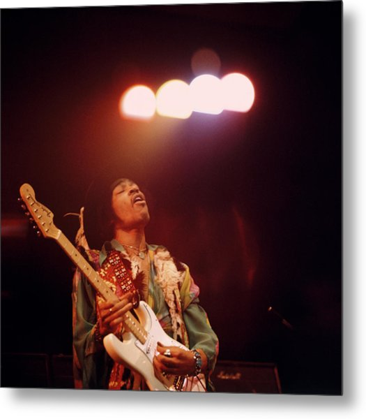Photo Of Jimi Hendrix Metal Print