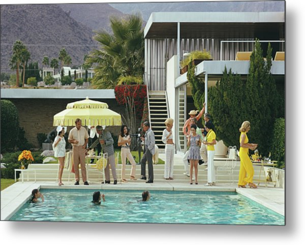 Poolside Party Metal Print by Slim Aarons