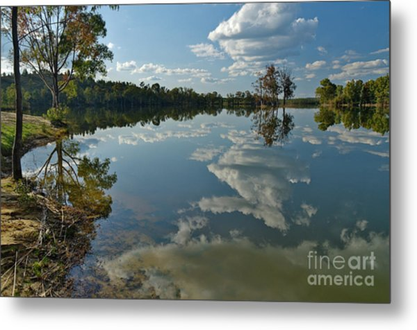 Reflections By The Lake Metal Print