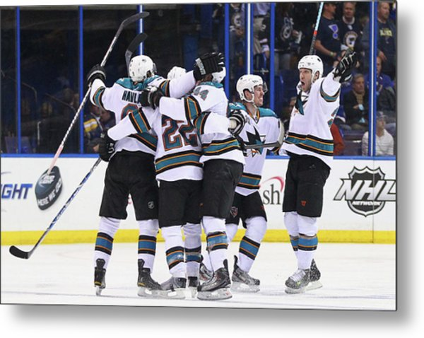 San Jose Sharks V St. Louis Blues - Metal Print