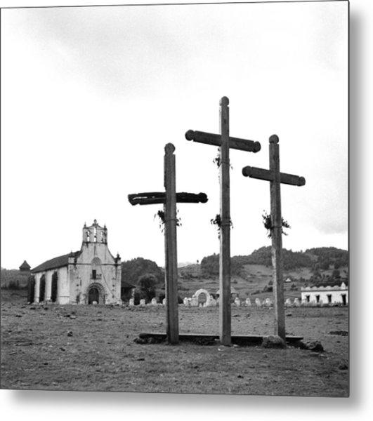 San Juan Chamula, Mexico Metal Print by Michael Ochs Archives