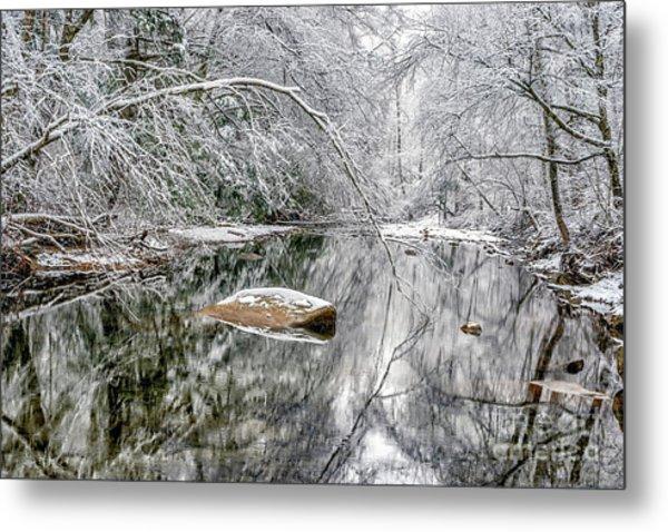 Snow Along Cranberry River Metal Print