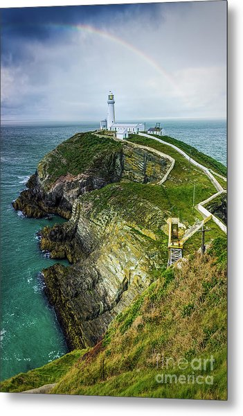 South Stack Lighthouse Metal Print