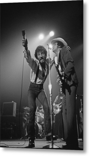 Springsteen Live In New Jersey Metal Print