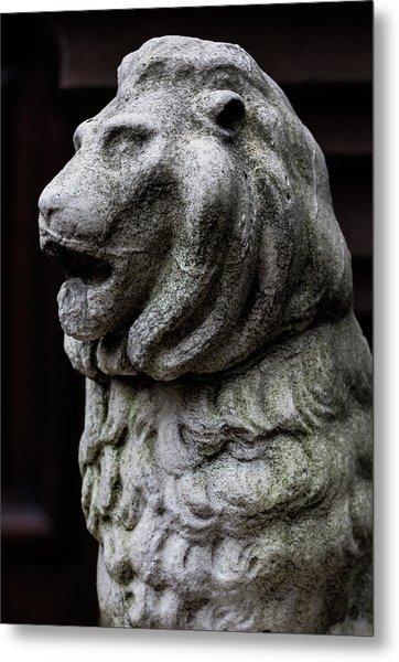 Stone Lion Metal Print by Robert Ullmann