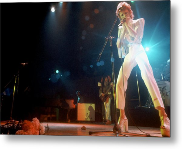 Ziggy Stardust Era Bowie In La Metal Print