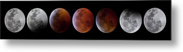 2019 Lunar Eclipse Progression Metal Print