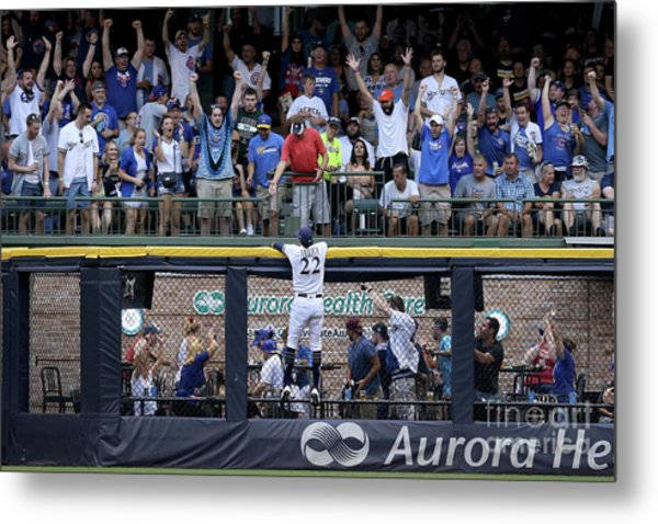 Chicago Cubs V Milwaukee Brewers Metal Print