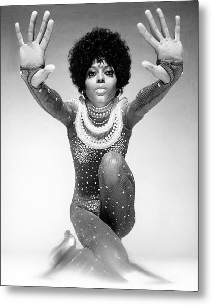 Diana Ross Portrait Session Metal Print by Harry Langdon
