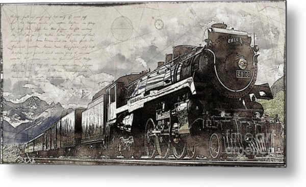 2816 At Banff Siding Metal Print