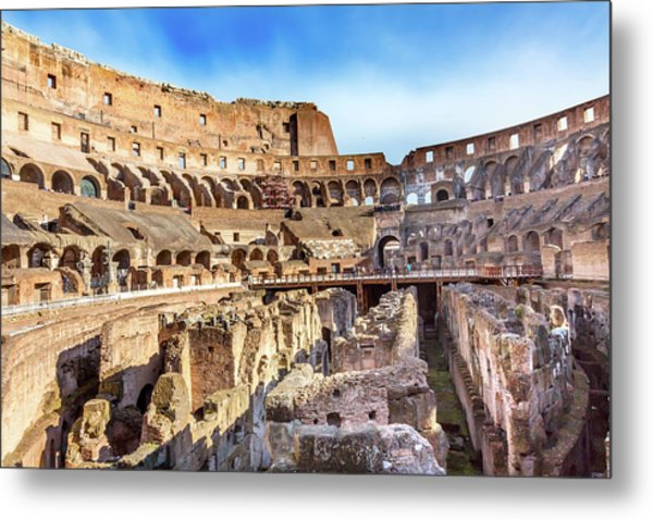 Colosseum, Rome, Italy Metal Print by William Perry