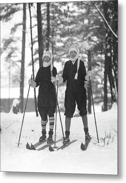 Cross Country Skiing Metal Print