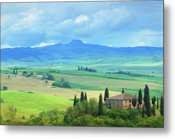 Farm In Tuscany Metal Print by Mammuth