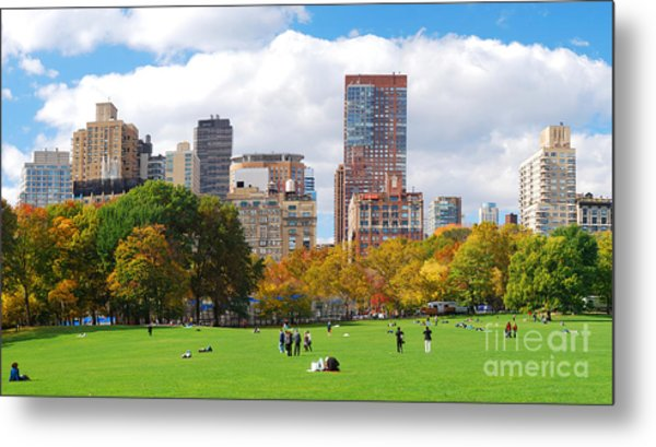 New York City Manhattan Skyline Metal Print