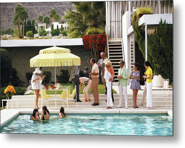 Poolside Party Metal Print