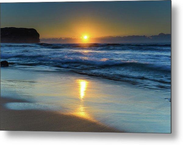 Sunrise Lights Up The Sea Metal Print