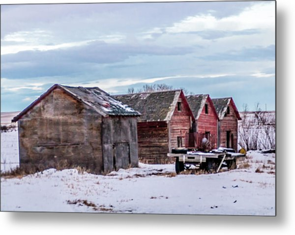 A Sign Of The Times, Run Diown Farm Out Buildings And Barns, Alb Metal Print
