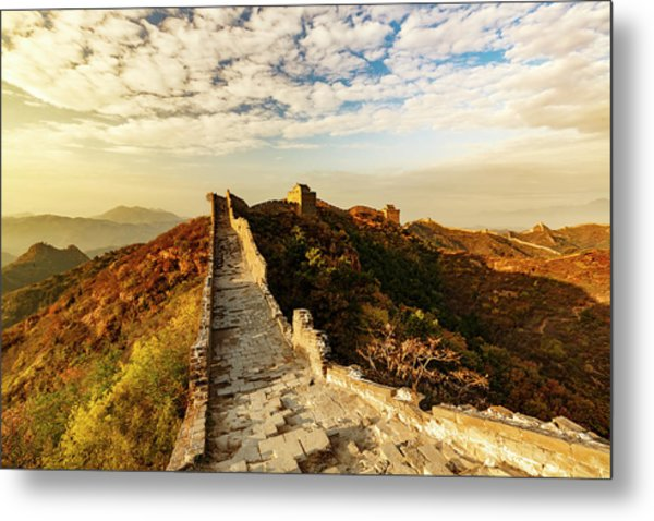 Great Wall Of China And Jinshanling Metal Print by Adam Jones