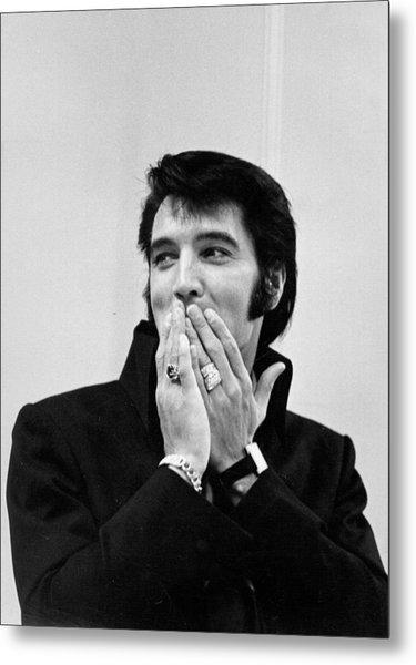 Rock And Roll Musician Elvis Presley Metal Print