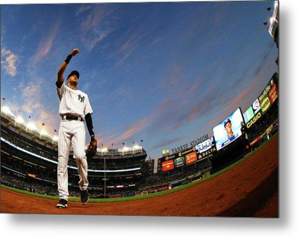 Toronto Blue Jays V New York Yankees - Metal Print by Al Bello