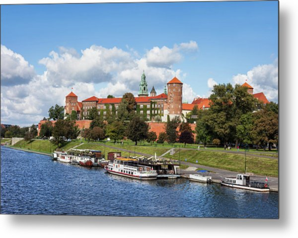 Wawel Royal Castle In Krakow Metal Print