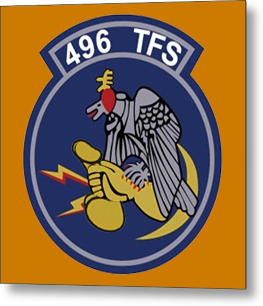 496th Tactical Fighter Squadron  Metal Print