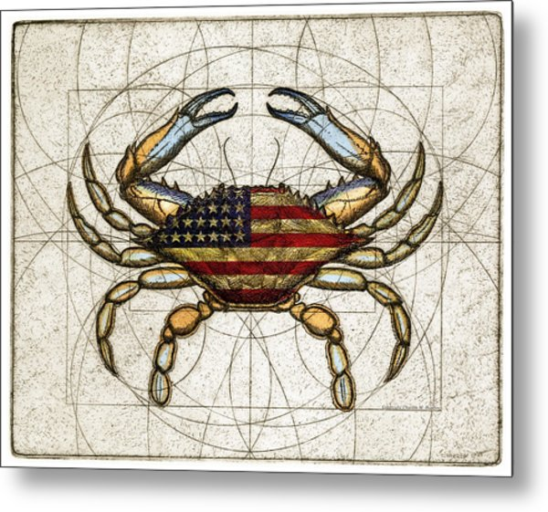 4th Of July Crab Metal Print