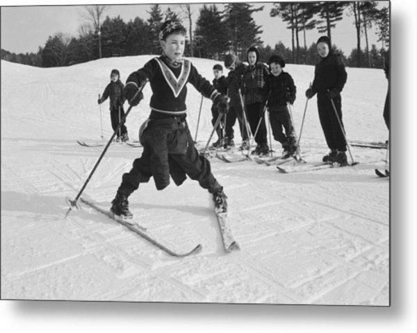 New England Skiing Metal Print