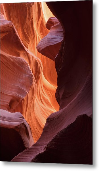 Abstract Sandstone Sculptured Canyon Metal Print