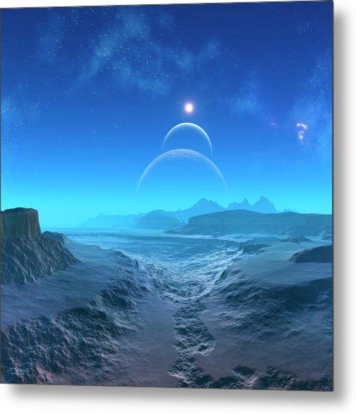 Alien Planet, Artwork Metal Print