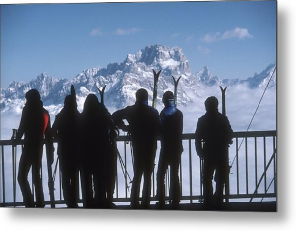 Cortina Dampezzo Metal Print by Slim Aarons
