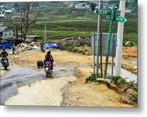 6 Km To Sapa, Vietnam Metal Print
