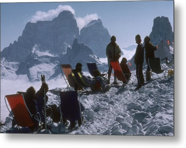 Cortina Dampezzo Metal Print by Slim Aarons