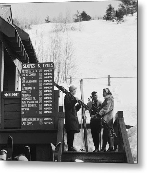 New England Skiing Metal Print by Slim Aarons