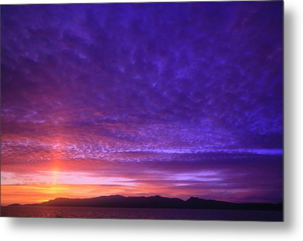 Vibrant Summer Sunset, Inside Passage Metal Print by Stuart Westmorland