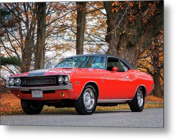 70 Dodge Challenger Rt - Driver Side Metal Print